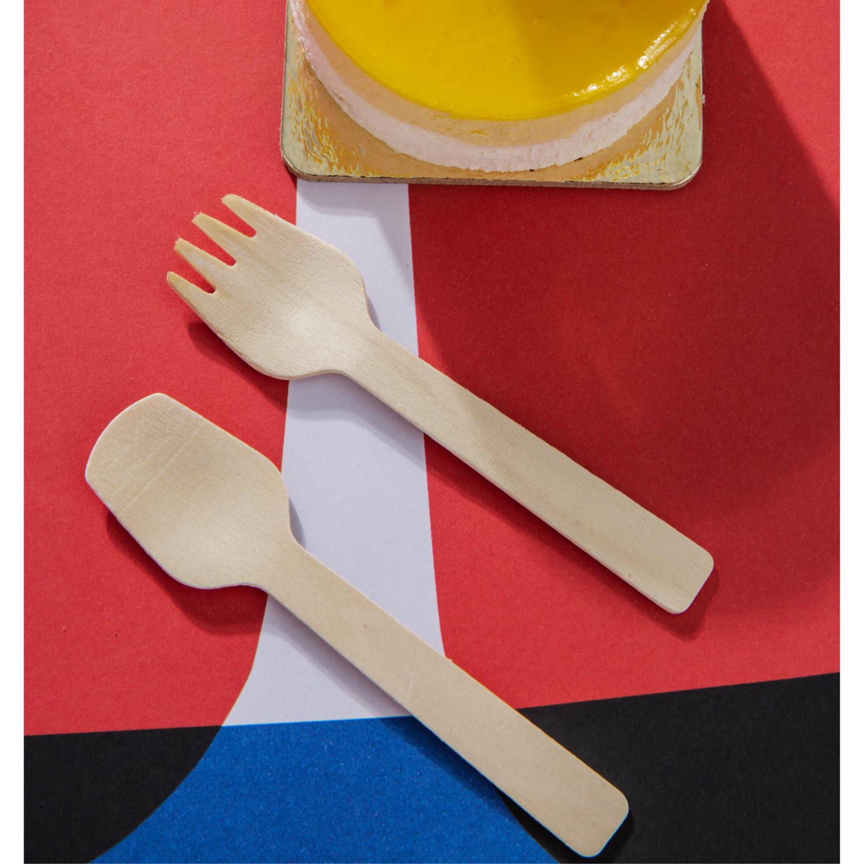 Nĩa (Dĩa) Nhỏ 10.5cm| Túi 20 nĩa| KEGO| Sản xuất tại Việt Nam| An toàn và tiện lợi| Bảo vệ môi trường|100% phân hủy sinh học hoàn toàn| Dùng nĩa (dĩa) gỗ cho Picnic, tiệc sinh nhật, party
