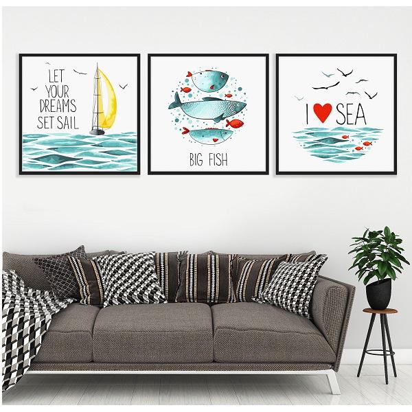 Bộ Tranh Biển Cả- Tranh Canvas  Trang Trí