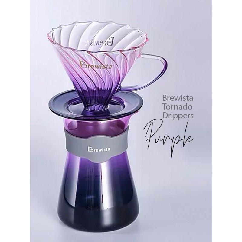 Bộ lọc cà phê chuyên dụng cao cấp V60 bằng thủy tinh Artisan Tornado Glass Dripper / Glass server for 1~2cups - Chính hãng : Brewista