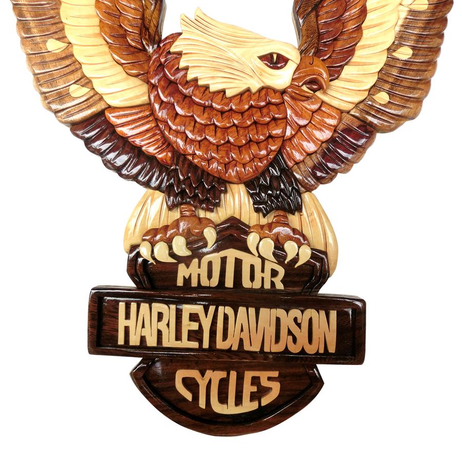 Tranh gỗ ghép treo tường- chim đại bàng Harley