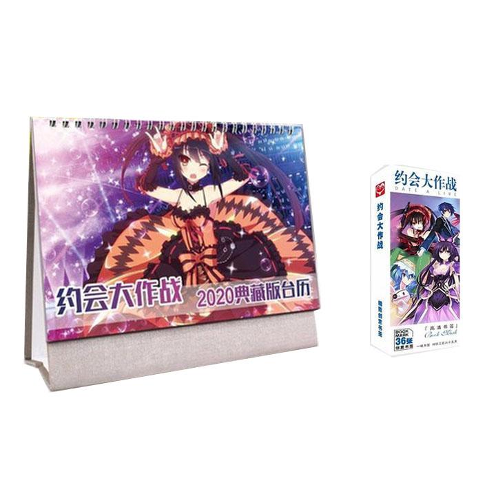 Combo 2 món anime chibi DATE A LIVE gồm quyển lịch kèm hộp ảnh bookmark