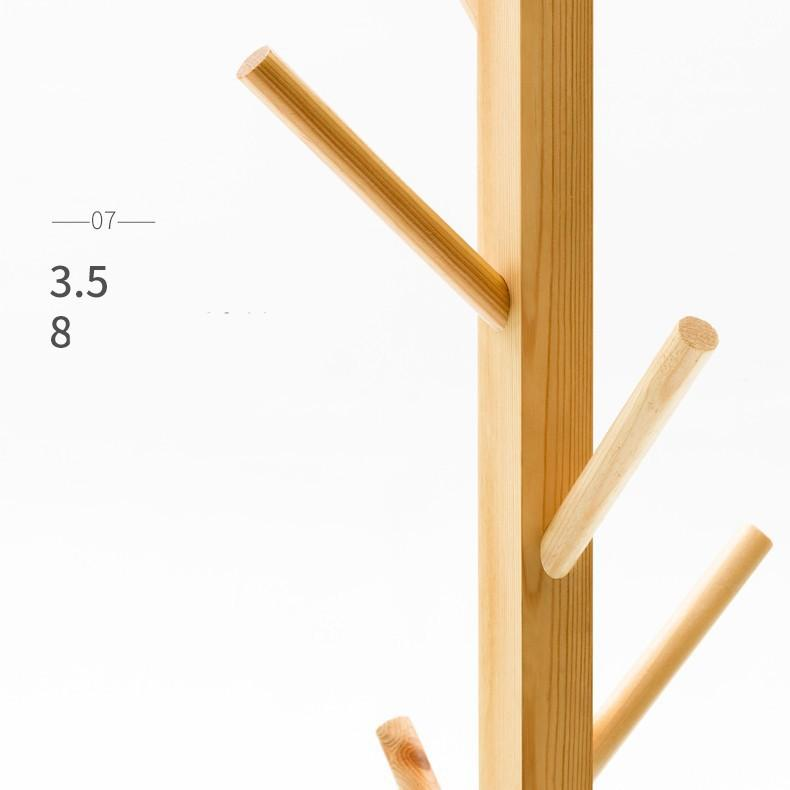 Mắc treo quần áo gỗ hình cây 1m65 NH9459