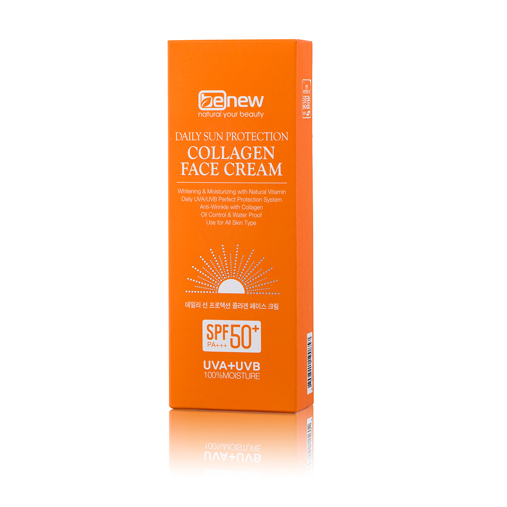 Kem chống nắng thảo dược Benew Collagen Face Cream Hàn Quốc 70ml tặng kèm móc khóa