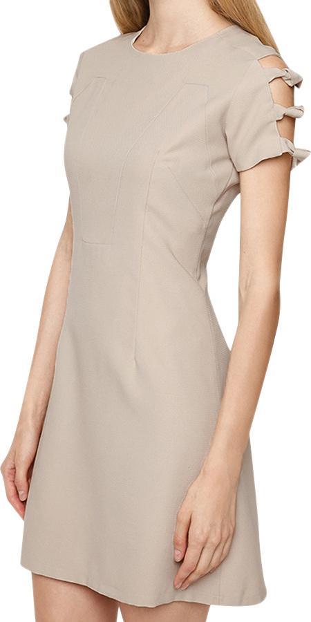 Đầm Nữ Phối Kiểu 2 Bên Tay Mint Basic - Kem Size M