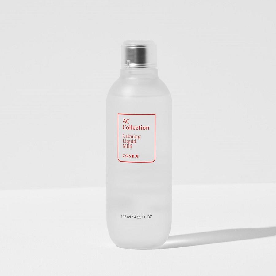 Nước Cân Bằng Da Mụn Và Nhạy Cảm Không Cồn (PHA + Rau Má) COSRX AC Collection Calming Liquid Mild Toner 125ml