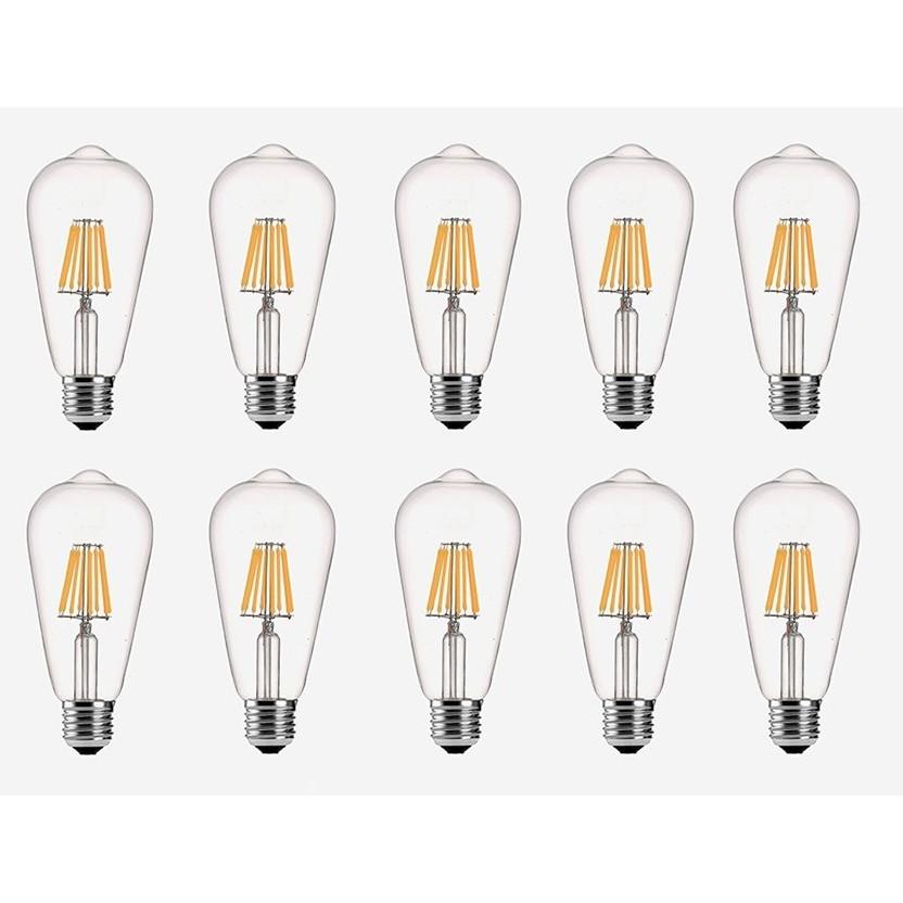 Bộ 10 bóng đèn Led ST64 6W đui E27.