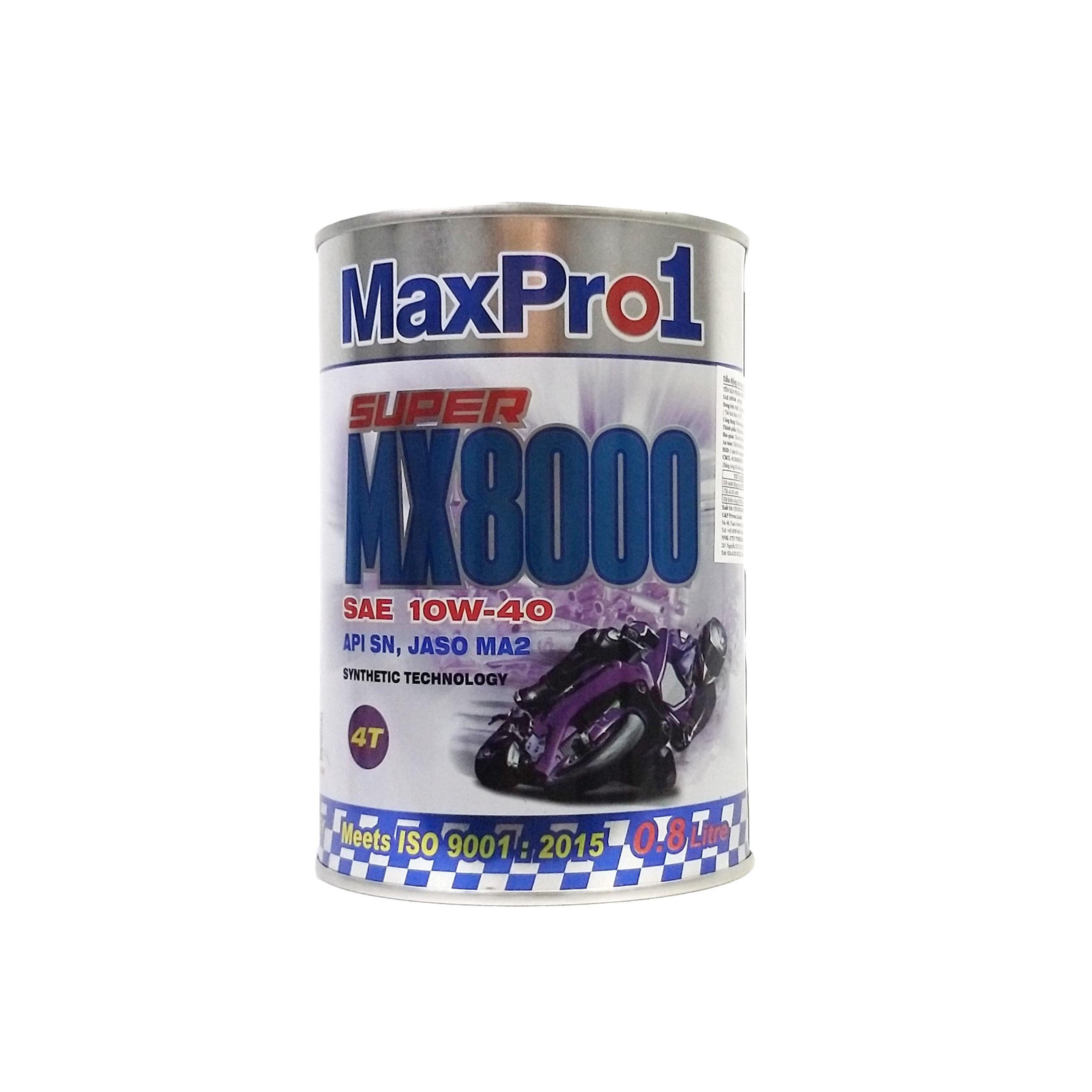 Dầu động cơ xe phân khối lớn MaxPro1 MX8000 800ml