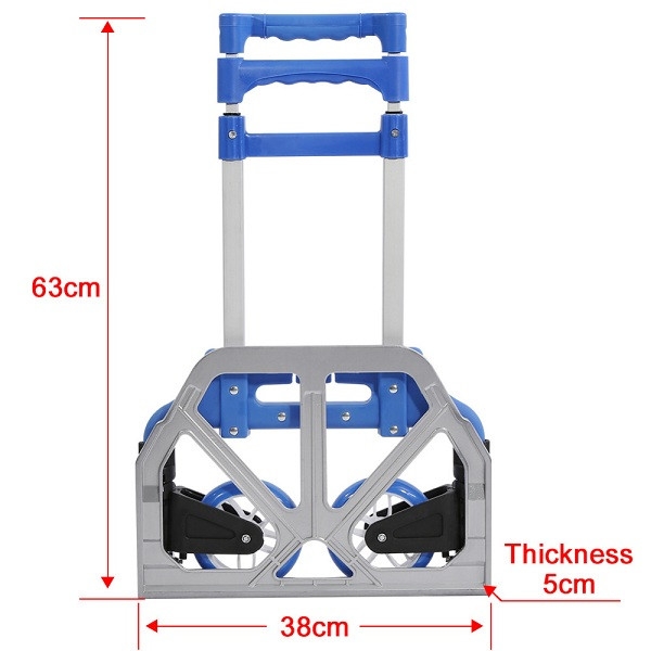 Xe kéo đẩy hàng khung hợp kim thép carbon tải trọng 80kg