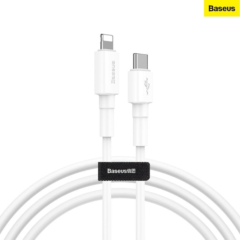 Cáp sạc Baseus Mini White Cable Type-C to iP PD 18W Trắng - Hàng chính hãng