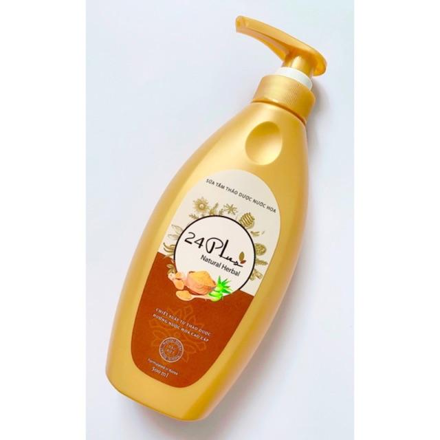 Sữa tắm thảo dược nước hoa 24 Plus 500ml
