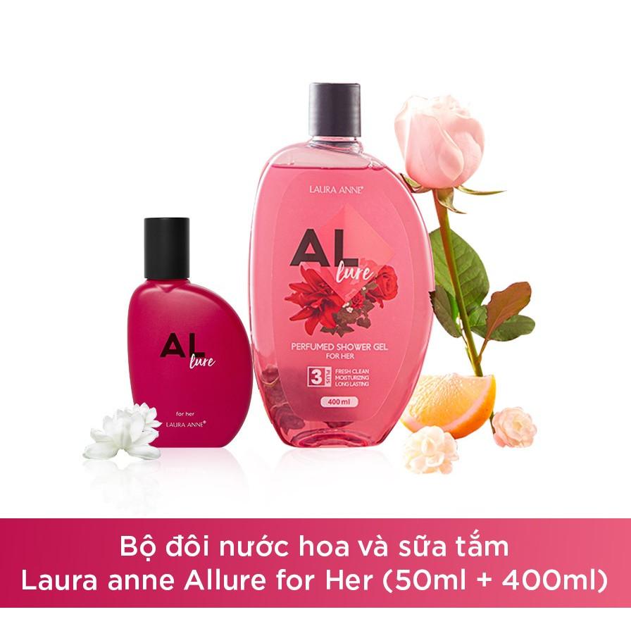 Bộ đôi nước hoa và sữa tắm Laura anne Allure for her