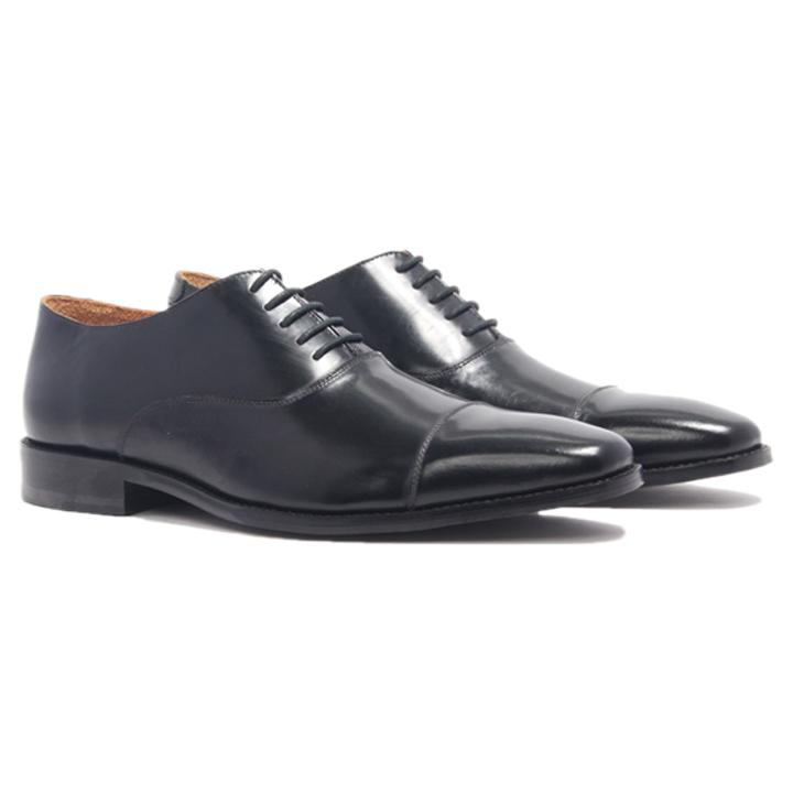 Giày nam cao cấp chính hãng BANULI, kiểu giày tây công sở H2CO1P0 da bò patent, đế pháp cao su tự nhiên