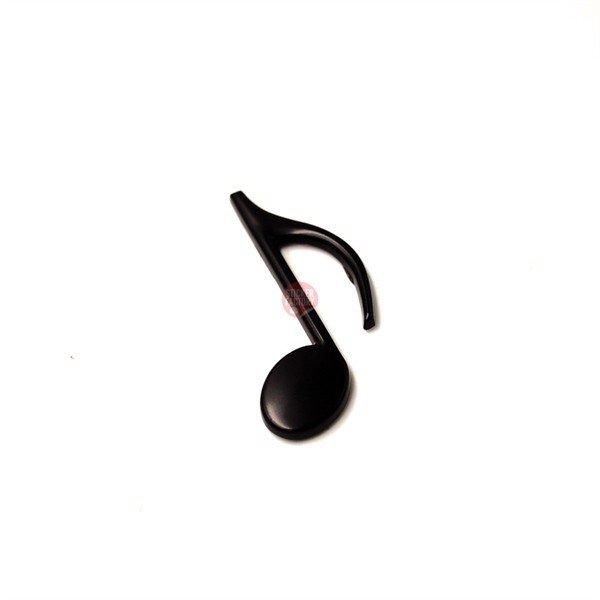 Nốt nhạc đen - Sticker hình dán metal kim loại 3D