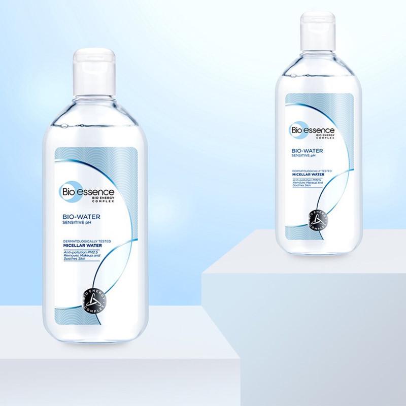 Nước tẩy trang Bio essence Micellar Water Sensitive PH cho da nhạy cảm chai 400ml