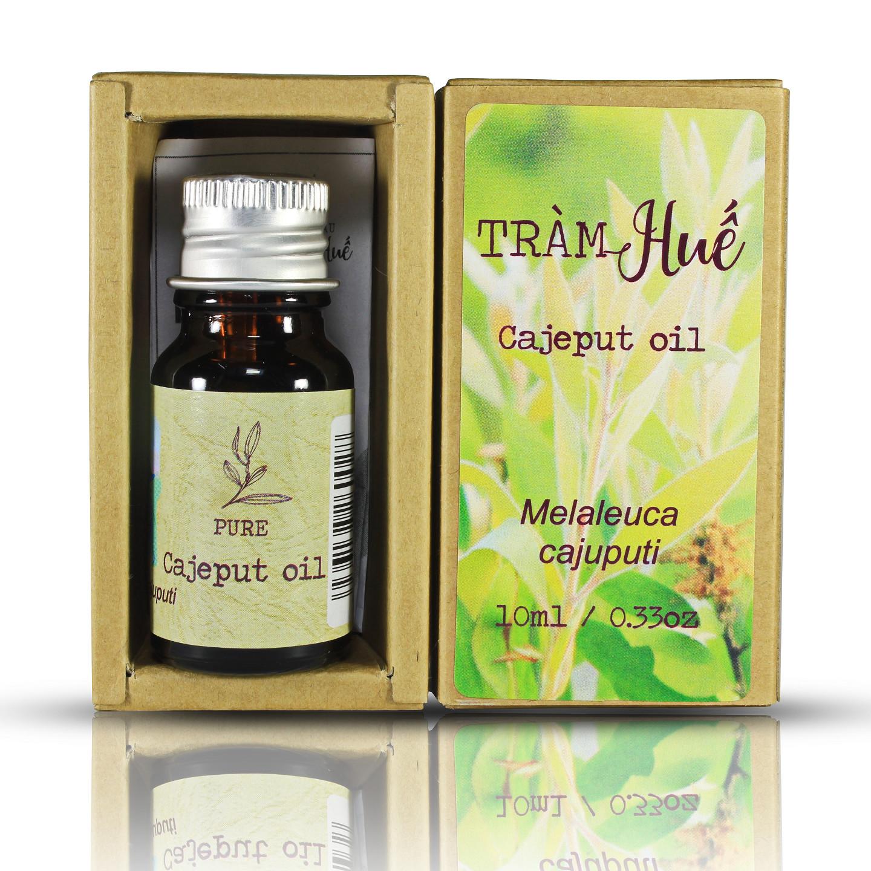 Tinh dầu Tràm Huế thương hiệu Làng Hạ 10ml (Cajeput oil): Sản phẩm truyền thống,đặc trưng của Huế, giúp giải cảm, giảm nghẹt mũi