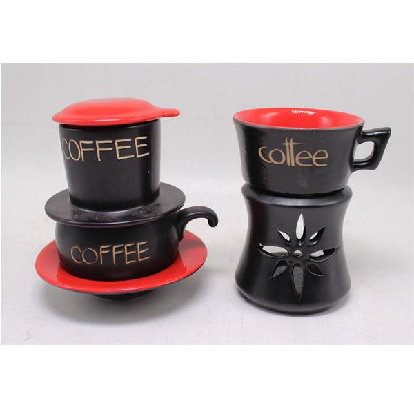 Combo Phin Cafe  Bếp đun màu đỏ MNV-CF001đỏ