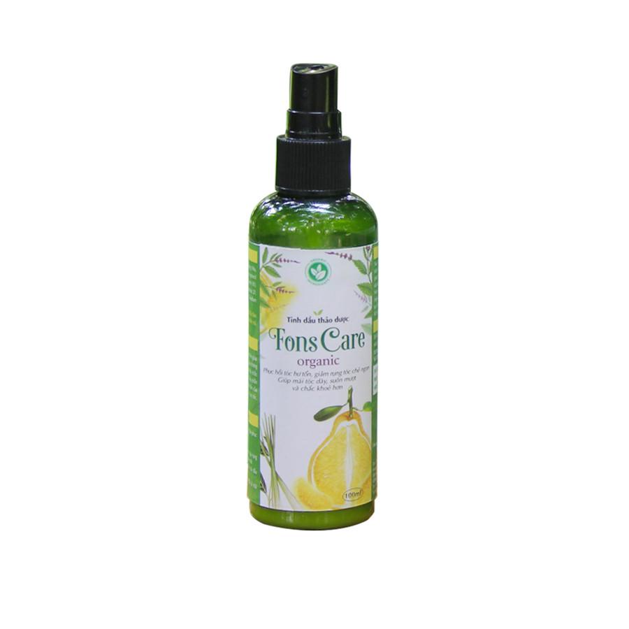 Tinh dầu bưởi xịt tóc, chăm sóc và kích thích mọc tóc Fons Care - Xịt Dưỡng Tóc Dài & Dày Đen Óng, Giúp Tóc Chắc Khỏe, Mượt Mà 100ml