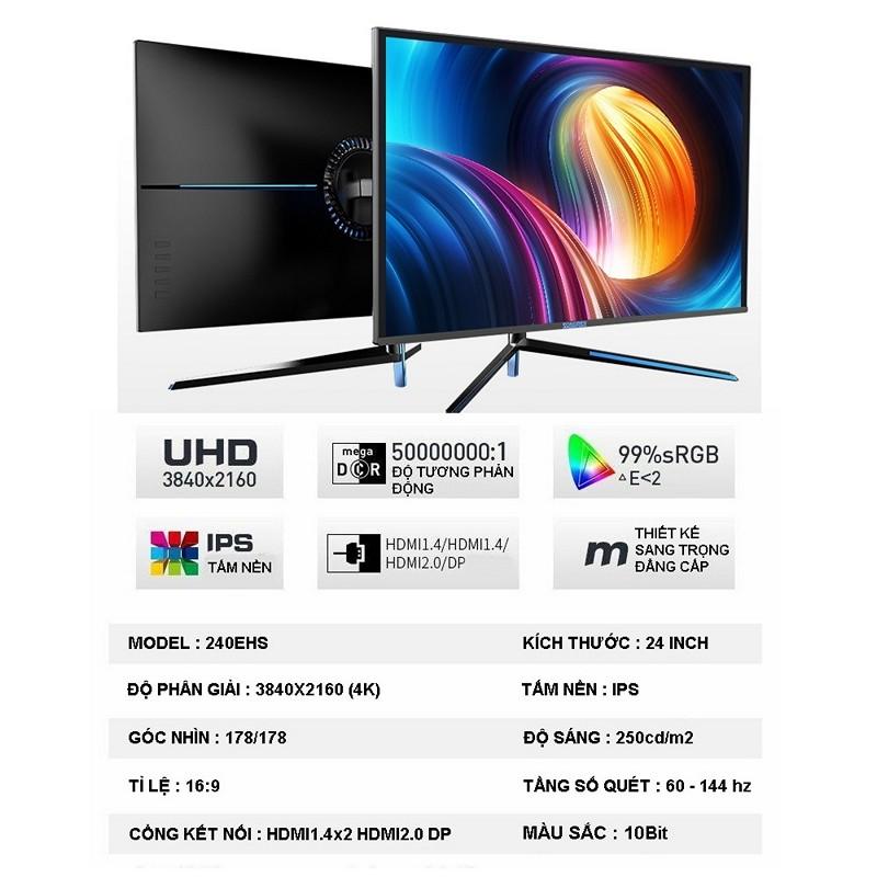 Màn Hình Máy Tính 24inch UHD IPS 4K (3840 x 2160) 144hz SONGREN Gaming - hàng nhập khẩu