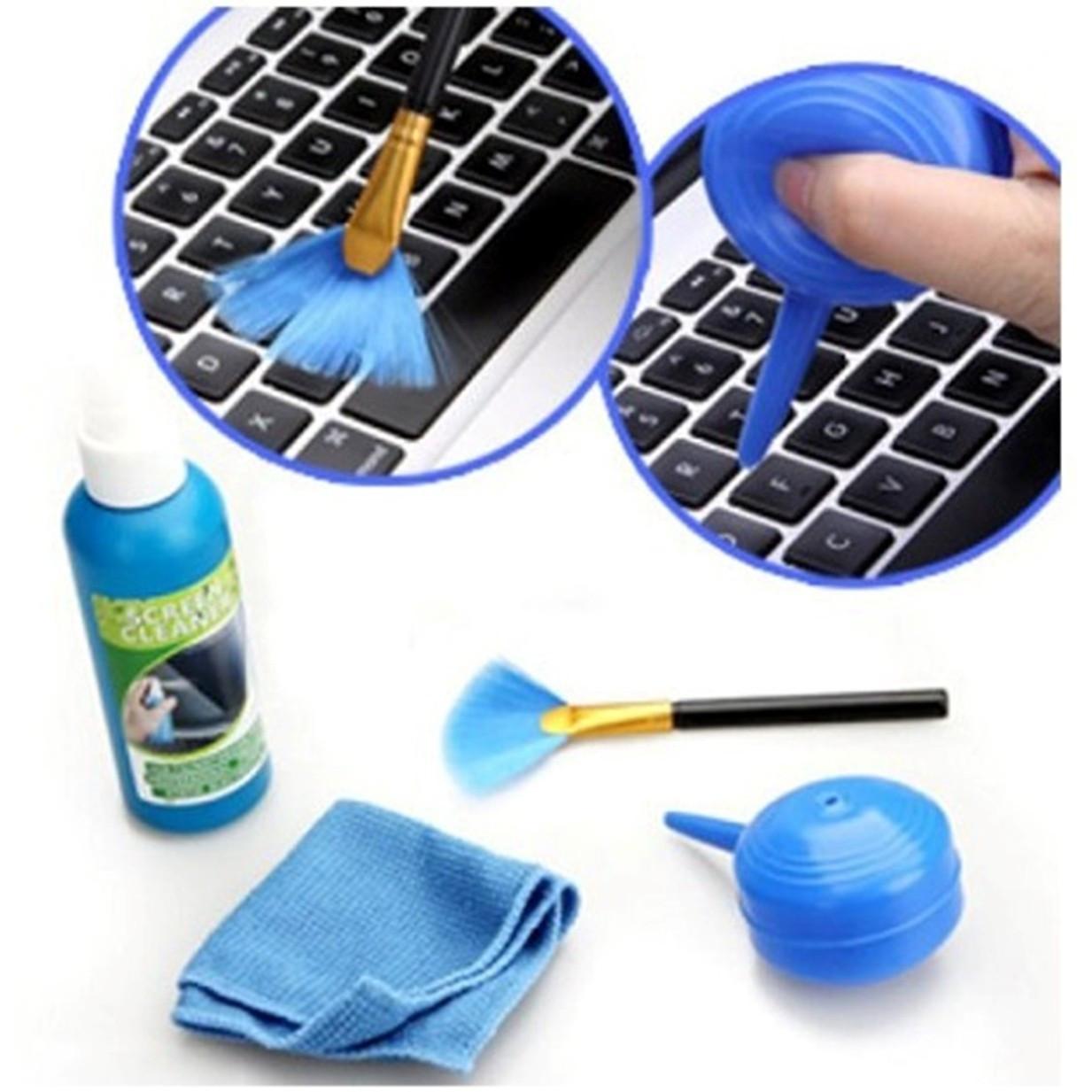 Bộ vệ sinh laptop LCD Cleaning KIT 4 món - Hàng nhập khẩu