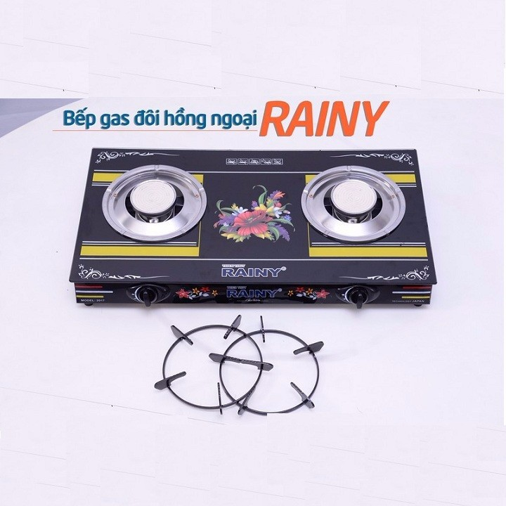 Bếp Gas Đôi Hồng Ngoại Rainy RN1602TT - Hàng chính hãng