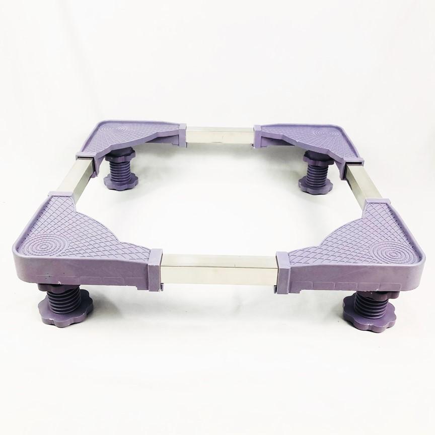 Kệ chân tủ lạnh máy giặt 4 góc bằng nhau có thể tùy chỉnh kích thước từ 48cm-62cm Chân Xoay ( Màu Ngẫu Nhiên )