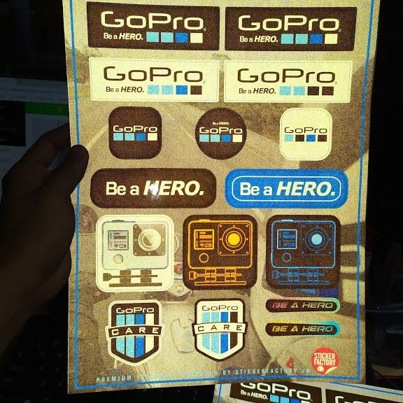 Gopro - Reflective Sticker hình dán phản quang 3M Premium