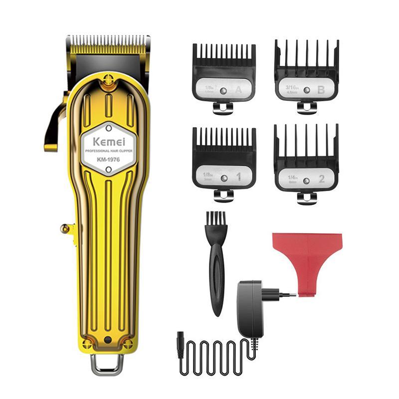 Tông đơ cắt tóc chuyên nghiệp kemei 1976 pin lithium 2500mAh sử dụng 300 phút