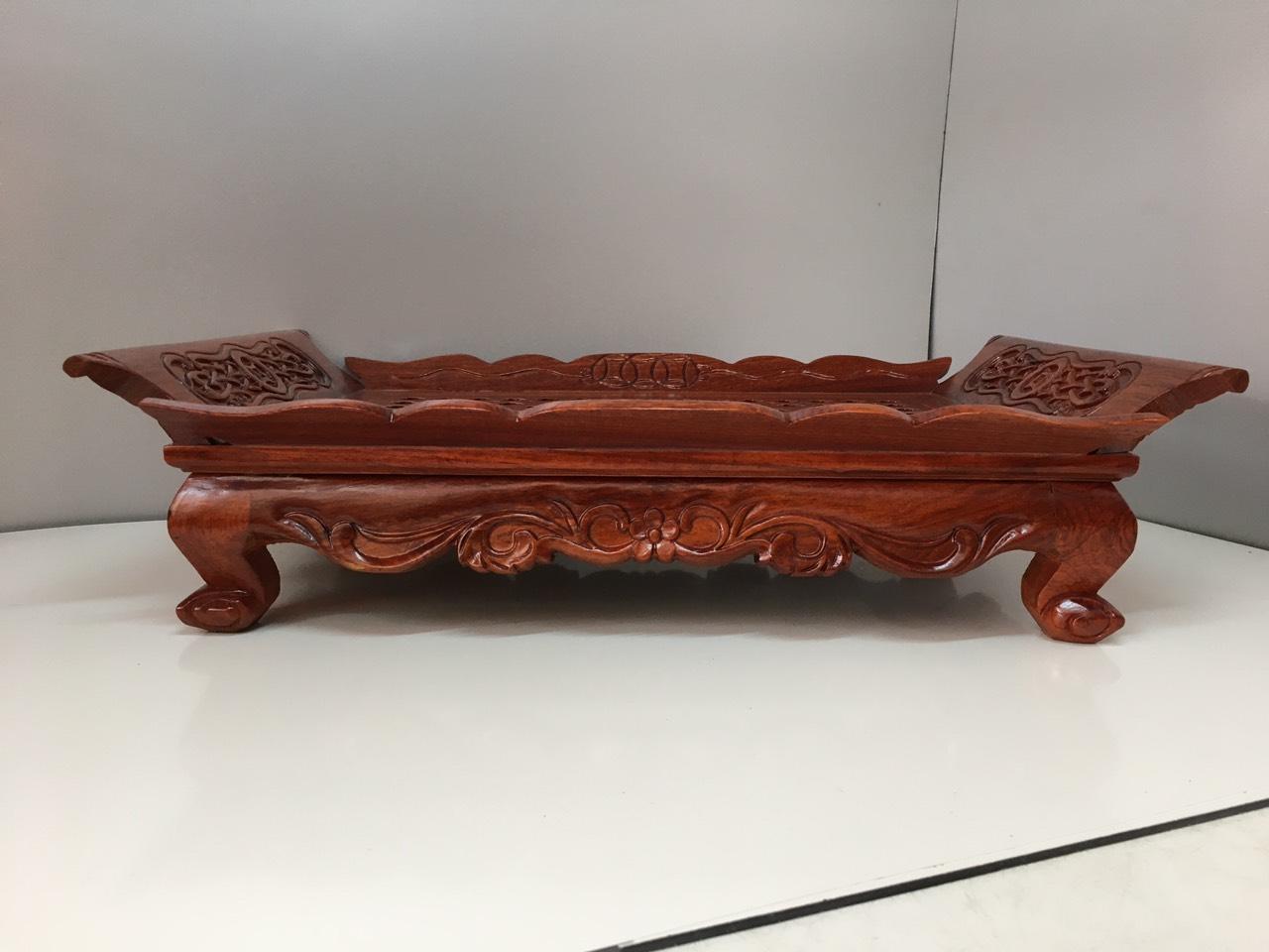 Khay trà gỗ hương  dài : 45cm, sau: 29,5cm ,Cao : 12cm