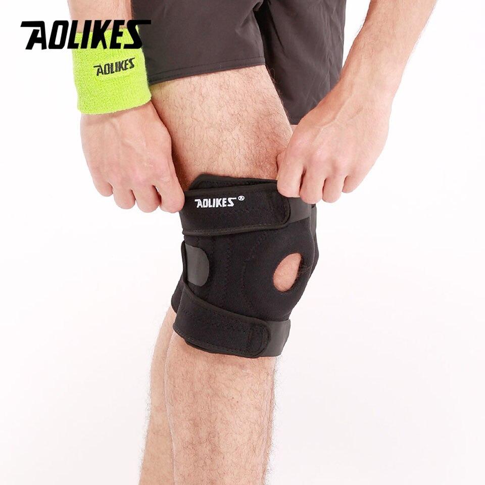 Đai bảo vệ đầu gối hỗ trợ xương bánh chè đệm đầu gối có lỗ thoáng khí Four spring Sport knee protector Aolikes A-7618