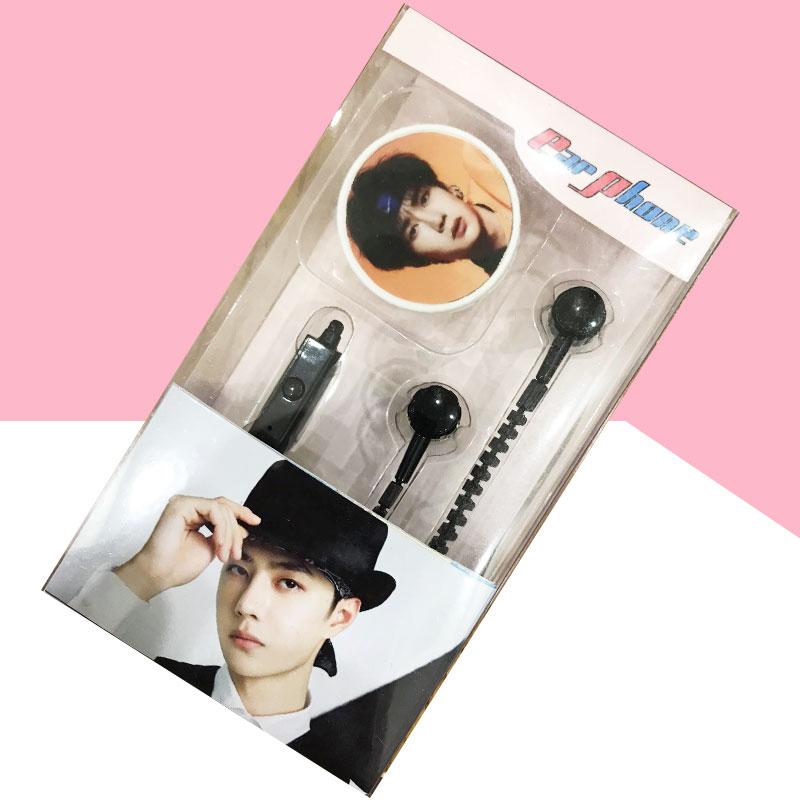 Máy nghe nhạc Vương Nhất Bác Wang Yibo tặng tai nghe khóa kéo