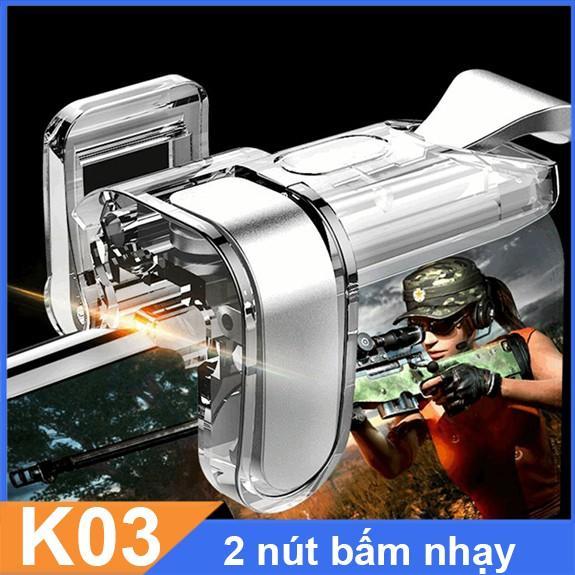 Nút k03 chơi game PUBG Call of duty Freefire cực nhạy nút trong suốt.