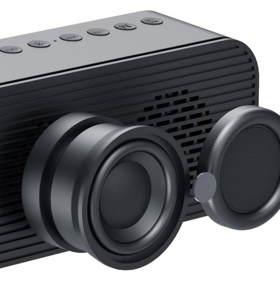 Loa Bluetooth G10 Loa Tráng Gương Kiêm Đồng Hồ, Đài FM, Đèn LED Hiển Thị Sắc Nét, Cắm Được Thẻ Nhớ, USB - Hàng chính hãng