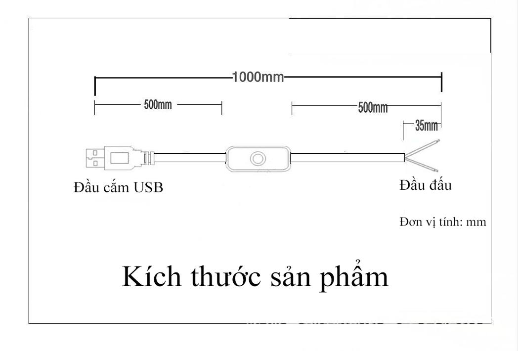 Set 5 dây công tắc đấu có đầu cắm USB cực tiện lợi sử dụng ngoài trời