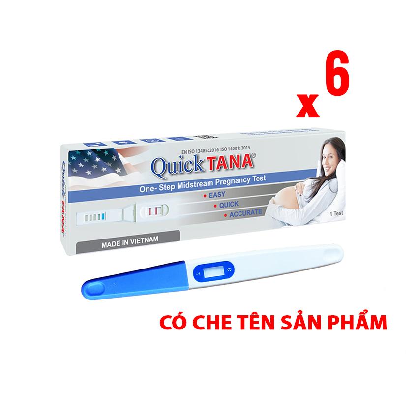 Bút thử thai Quicktana phát hiện thai sớm cho kết quả chính xác, nhanh và đảm bảo - Combo 6 bút