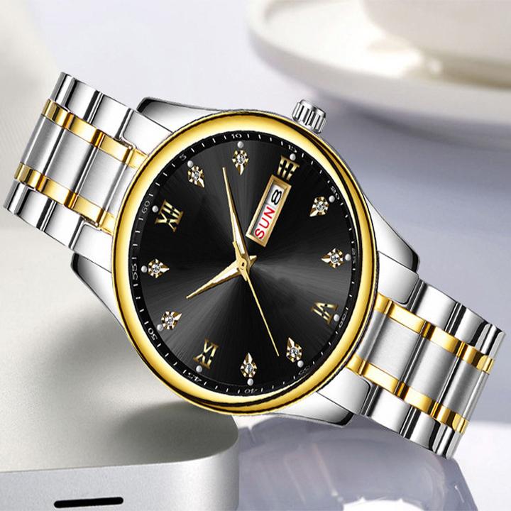 Đồng hồ nam dây thép chống dỉ S909 - Đồng hồ nam thời trang mới