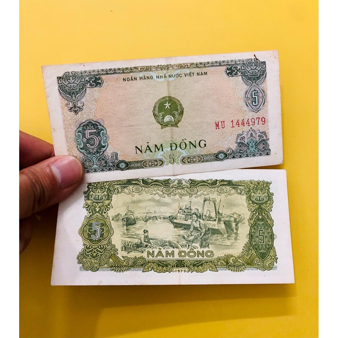 Tiền 5 đồng Việt Nam 1976, tiền xưa sưu tầm thời bao cấp