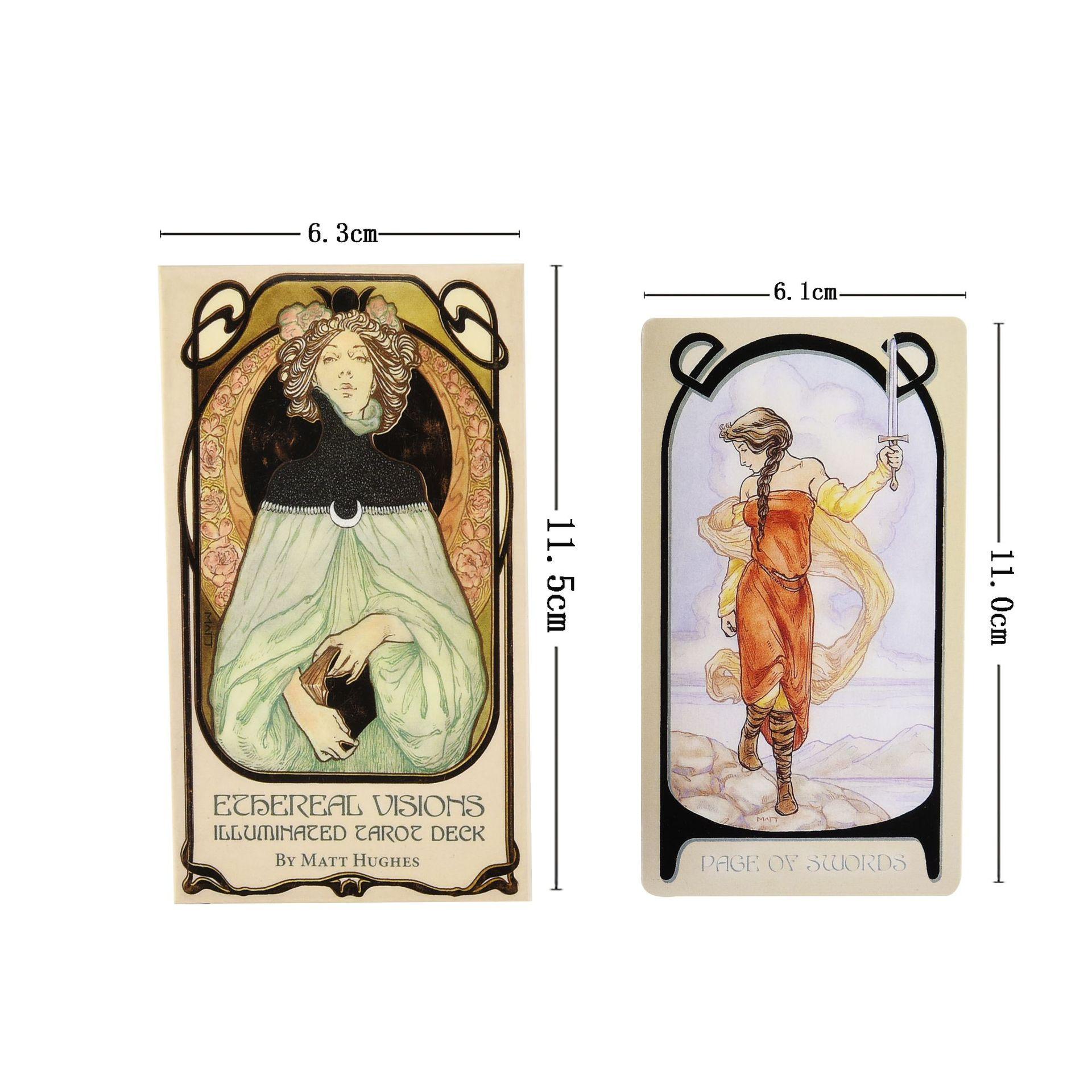 Bộ Bài Bói Tarot Ethereal Visions Illuminated Tarot Deck Cao Cấp New