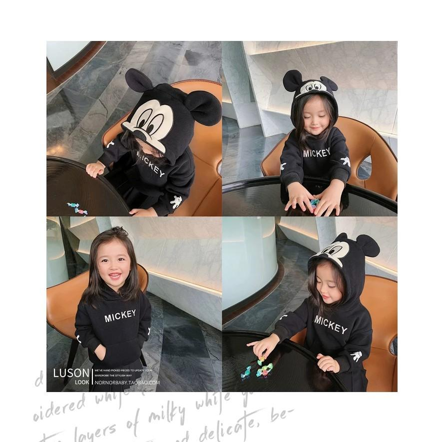 Áo nỉ trẻ em thu đông hoodie mũ trùm đầu hình thú dễ thương cho bé trai bé gái từ 8 đến 18kg