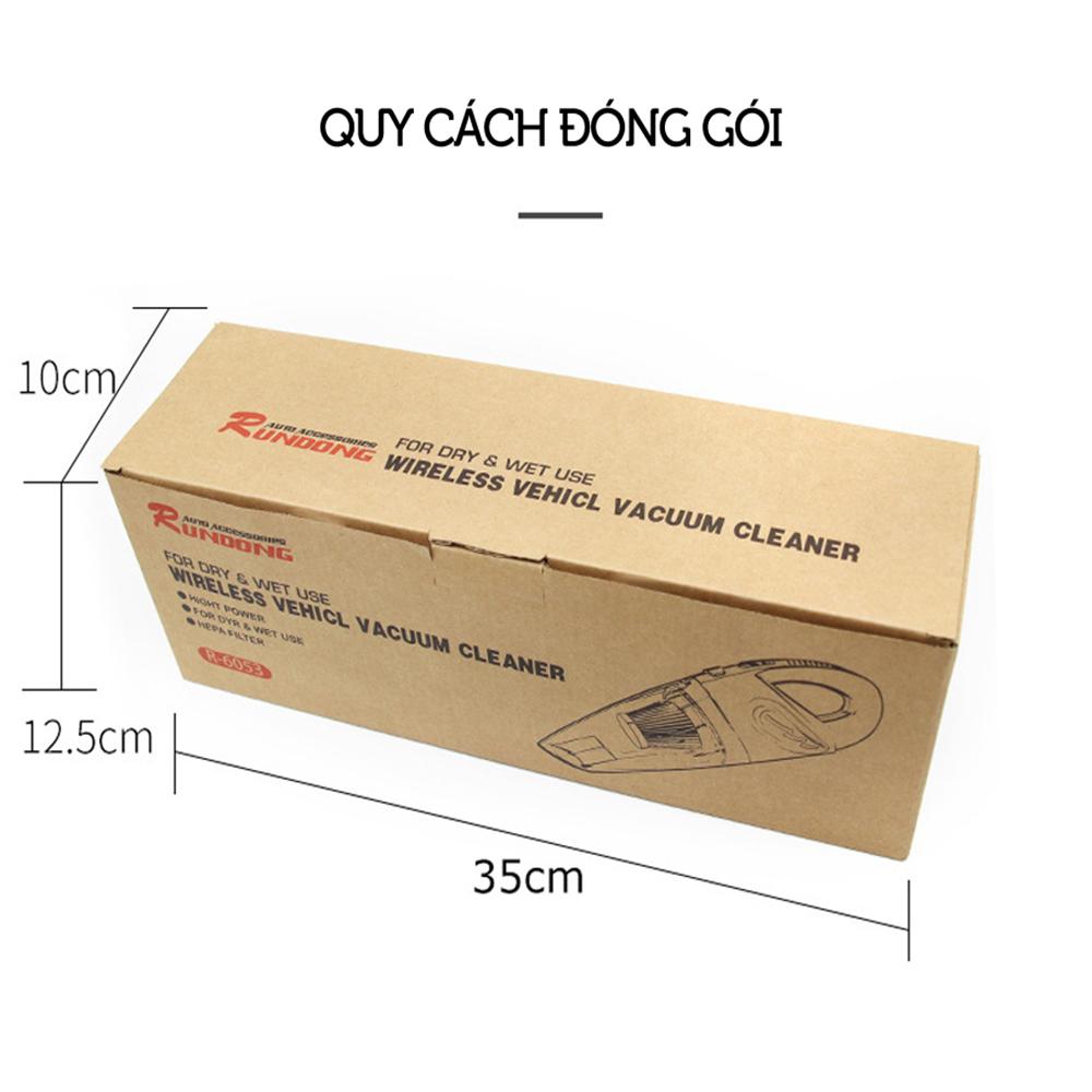 Máy hút bụi cầm tay không dây loại sạc pin dùng cho gia đình ENOLUX GD-153 R6053 - công suất 120w - lực hút 3200kpa - dung lượng 2200mAh - có thể hút bụi khô và nước - màu xám đen - Hàng Chính Hãng