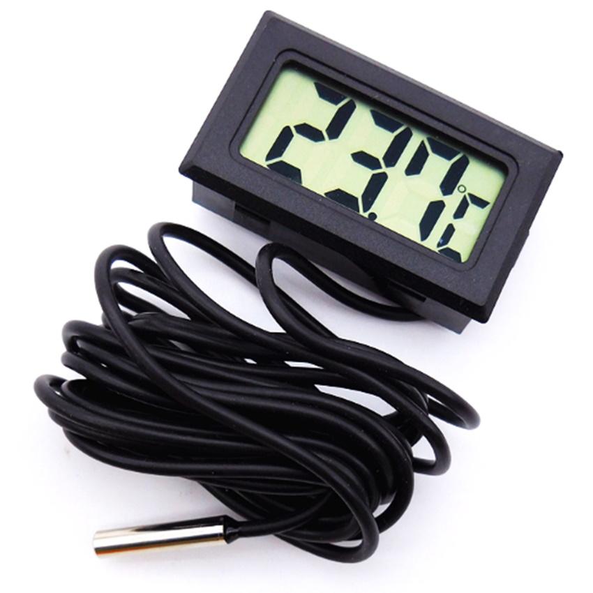 Đồng hồ đo nhiệt độ và độ ẩm dây dài 206145 (đen)