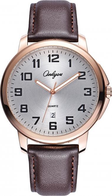 Đồng hồ Onlyou Nam 81073GC-1 Dây Da 42mm