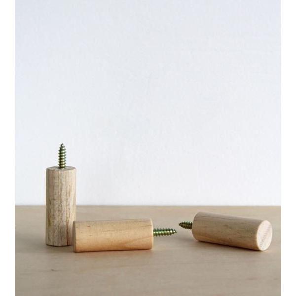 set 3 móc gỗ gắn tường treo đồ trang trí độc đáo