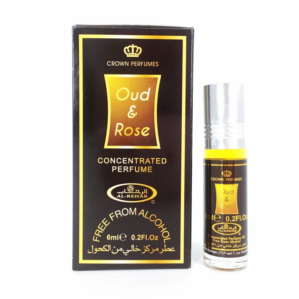 UNISEX - Tinh dầu nước hoa OUD & ROSE Al-Rehab (hàng chính hãng )