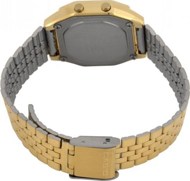 Đồng hồ điện tử nữ Casio Vintage LA680WGA-1BDF dây kim loại