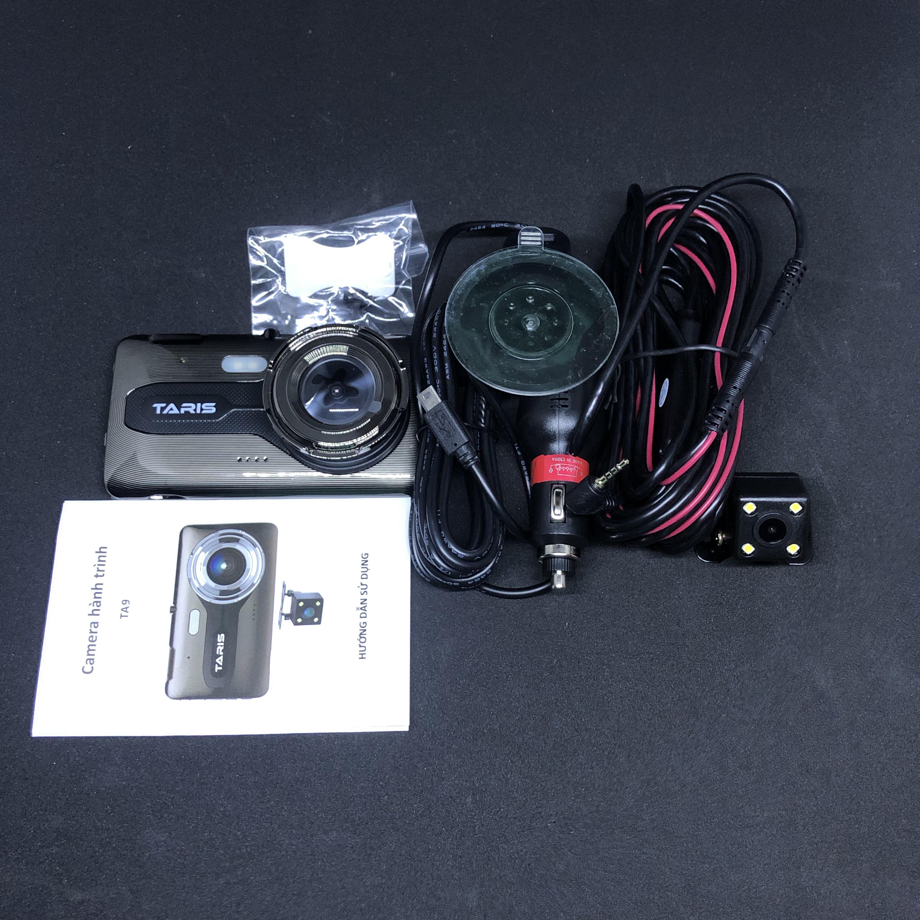 Camera hành trình Ô tô tự lắp dễ dàng Taris TA9 chính hãng - Full HD 1080p - cảnh báo va chạm - Gsensor - ghi hình ngược sáng - thẻ nhớ 32BG