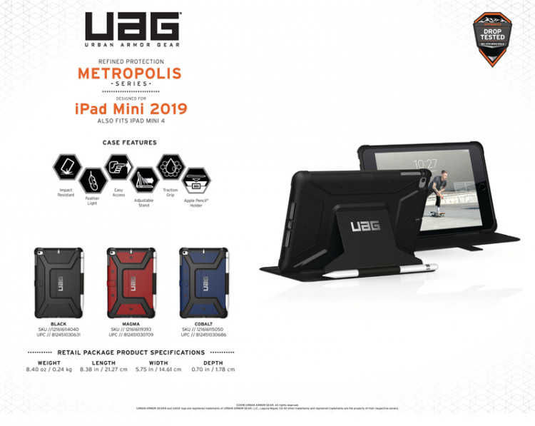 Bao da iPad Mini 5 2019 UAG Metropolis Series