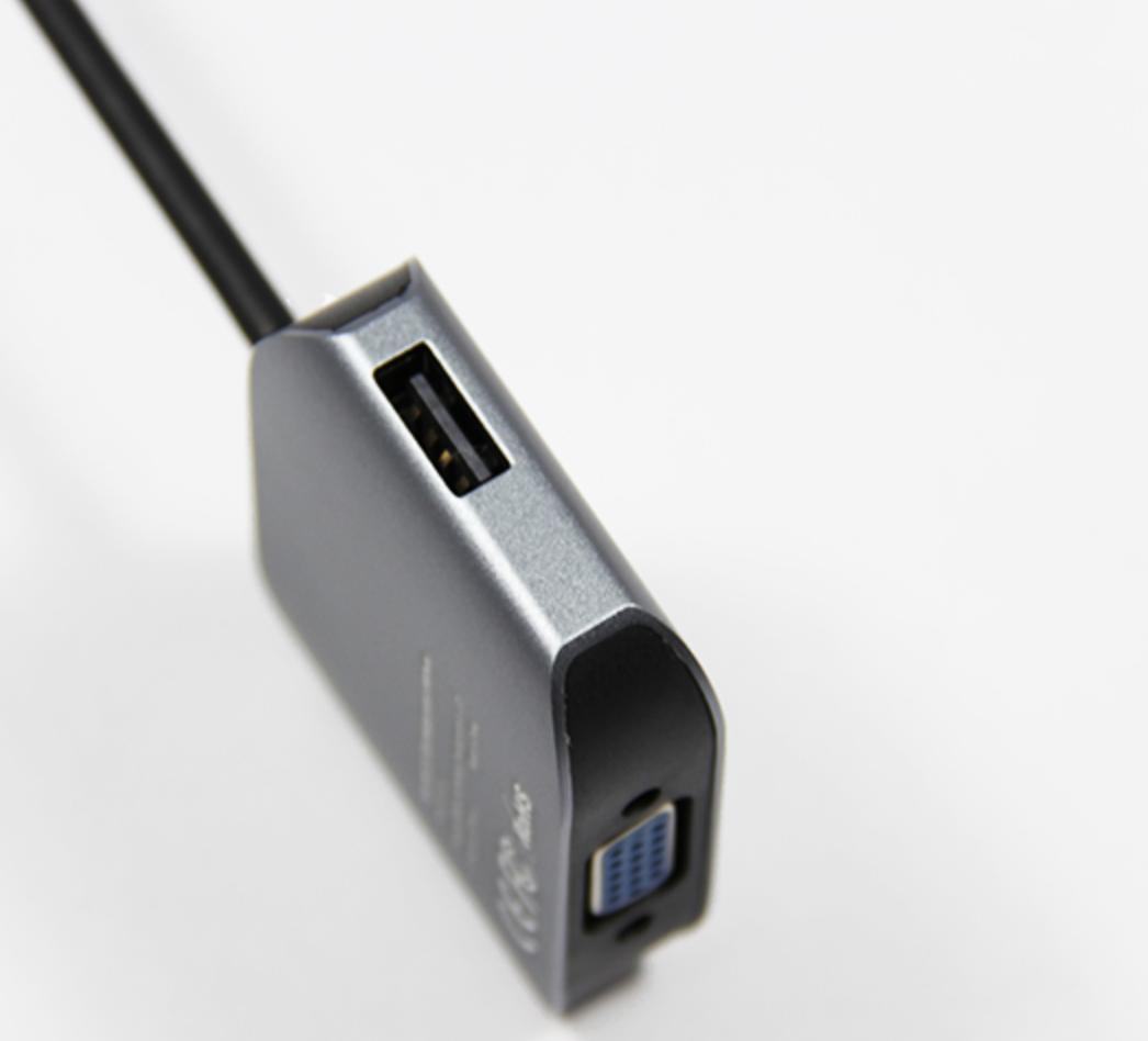 Giắc chuyển đổi USB-C ra VGA cho Macbook thêm 2 cổng USB
