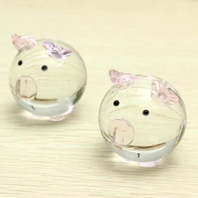 Cặp 2 con lợn pha lê trang trí quà tặng lưu niệm cực ý nghĩa, mang sự phồn thịnh