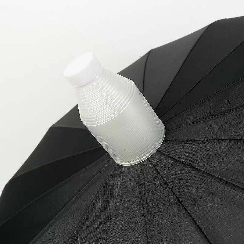 Ô dù che mưa nắng cán dài có hộp nhựa dạng xếp đựng nước