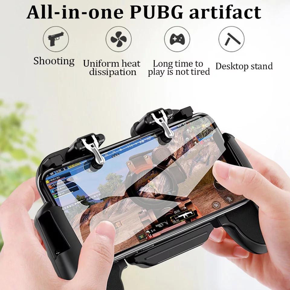 Tay Cầm Chơi Game H5 Tích Hợp Nút Nhấn Hỗ Trợ Chơi PUBG, ROS, Freefire Có Quạt Tản Nhiệt - Không Pin